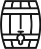 Maturation process with wine in barrel icon